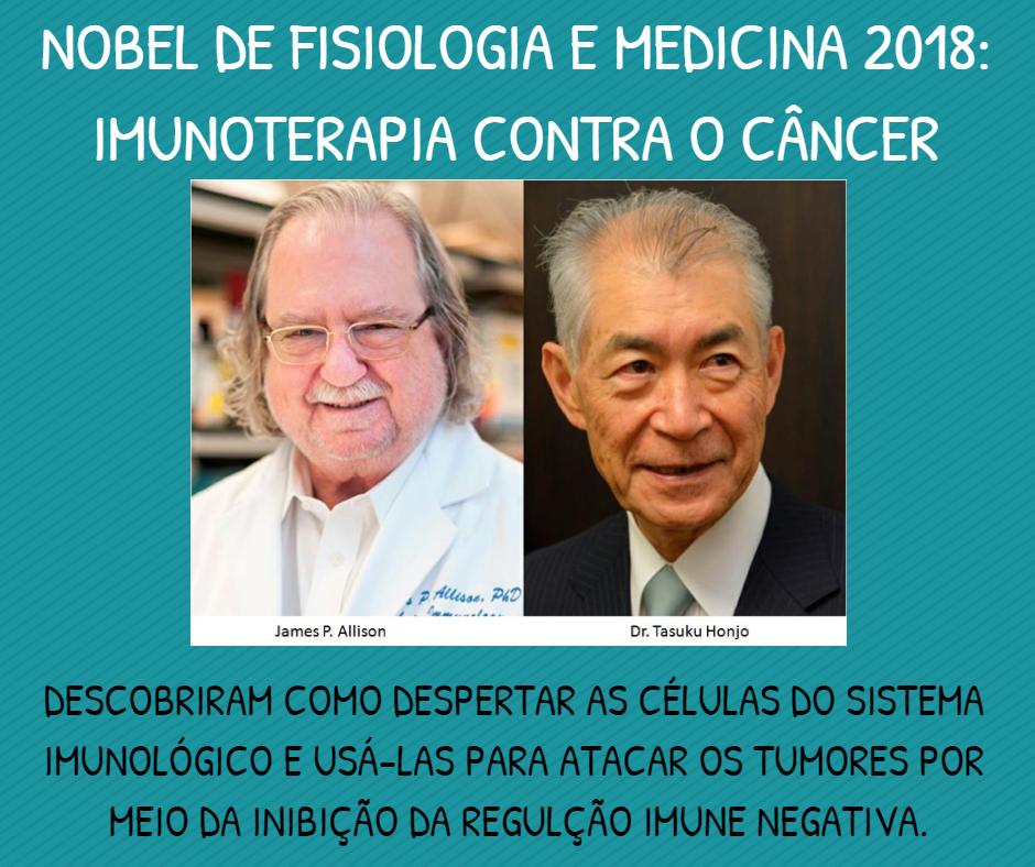 O Prêmio Nobel de Medicina premia pesquisas em imunoterapia contra o câncer